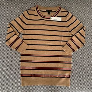NWT J. Crew Tippi Sweater - 3/4 sleeve, striped XS